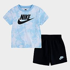 Boys' Toddler Nike Sportswear Magic Club Tie-Dye T-Shirt and Shorts Set