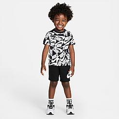 Boys' Toddler Nike Futura Toss Allover Print T-Shirt and Shorts Set