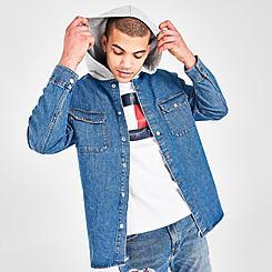 Men's Tommy Jeans Hooded Denim Shirt Jacket