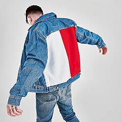 Men's Tommy Jeans Flag Mason Trucker Denim Jacket