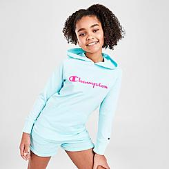 Girls' Champion Script French Terry Pullover Hoodie