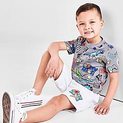 Boys' Toddler Converse Gaming Allover Print T-Shirt and Shorts Set