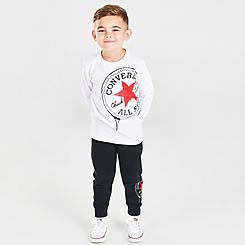 Boys' Toddler Converse Long-Sleeve T-Shirt and Joggers Set
