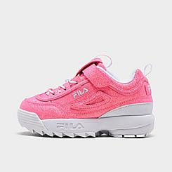 Girls' Toddler Fila Disruptor 2 Glimmer Casual Shoes
