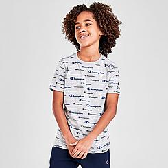 Boys' Champion AOP Multi-Color Script Logo T-Shirt