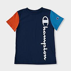 Boys' Champion Colorblock Vertical Script T-Shirt