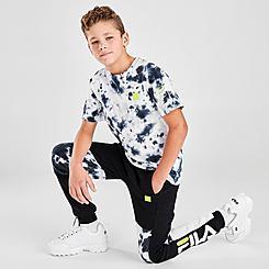 Boys' Fila Sander Tie-Dye Colorblock Jogger Pants