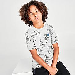 Boys' Fila Gito Allover Print Graffiti T-Shirt