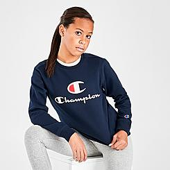 Kids' Champion Script Fleece Crew Sweatshirt