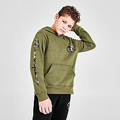 Boys' Champion Camo C Logo Fleece Pullover Hoodie