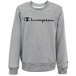 Kids' Champion Camo Script Logo Fleece Crewneck Sweatshirt