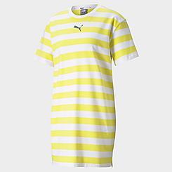 Women's Puma Summer Stripes Allover Print T-Shirt Dress