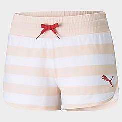 Women's Puma Summer Stripes Allover Print Shorts