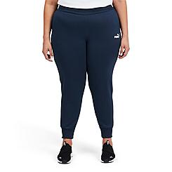 Women's Puma Essentials Classic Logo Fleece Pants (Plus Size)