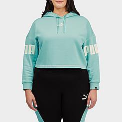 Women's Puma Power Fleece Hoodie (Plus Size)
