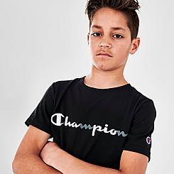 Kids' Champion Tricolor Script T-Shirt