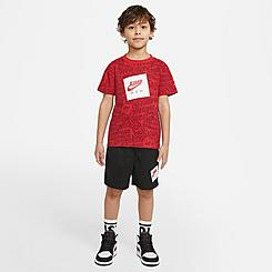 Boys' Little Kids' Jordan Jumpman AOP T-Shirt and Shorts Set