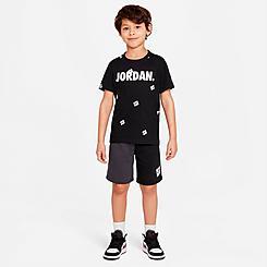 Boys' Little Kids' Jordan Jumpman Post It AOP T-Shirt and Shorts Set