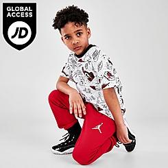 Boys' Little Kids' Jordan Flight AOP T-Shirt and Jogger Pants Set