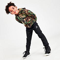 Boys' Little Kids' Jordan Essentials Fleece Camo Full-Zip Hoodie and Jogger Pants Set
