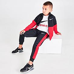 Boys' Little Kids' Nike Tricot 3-Piece Track Set and T-Shirt