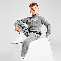 Boys' Little Kids' Nike Fleece Swoosh Half-Zip Pullover and Jogger Pants Set