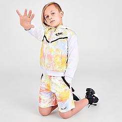 Boys' Little Kids' Nike Wild Run Tie-Dye Shorts