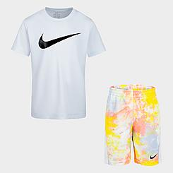 Boys' Little Kids' Nike Sportswear T-Shirt and Tie-Dye Shorts Set