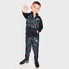 Boys' Little Kids' Nike Swooshfetti Print Tricot Track Jacket and Jogger Pants Set