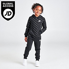 Little Kids' Nike Allover Print Swoosh Hoodie and Jogger Pants Set