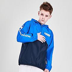 Boys' Champion Colorblock Half-Zip Windbreaker Jacket