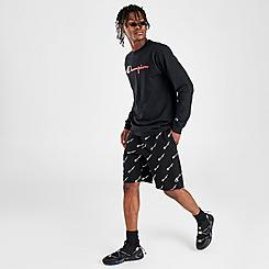 Men's Champion Reverse Weave Allover Print Script Shorts