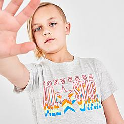 Boys' Little Kids' Converse All Star Repeat Logo T-Shirt