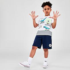 Boys' Little Kids' Converse Dinosaur T-Shirt and Shorts Set
