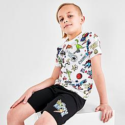 Boys' Little Kids' Converse Gaming Allover Print T-Shirt and Shorts Set