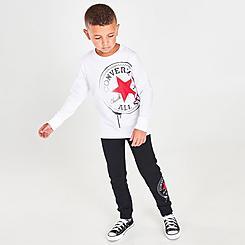 Boys' Little Kids' Converse Long-Sleeve T-Shirt and Jogger Pants Set