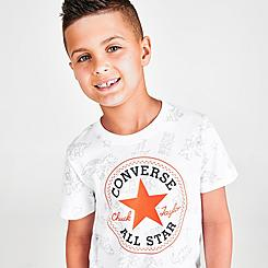 Boys' Little Kids' Converse Allover Dino Print T-Shirt