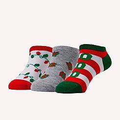 Kids' Finish Line 3-Pack No-Show Socks