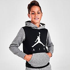 Kids' Jordan Jumpman Air Colorblock Pullover Hoodie