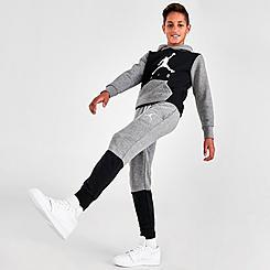 Boys' Jordan Air Colorblock Fleece Jogger Pants