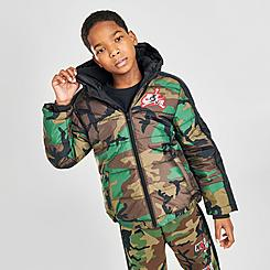 Boys' Jordan Jumpman Classics Mashup Logo Camo Puffer Jacket