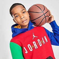 Boys' Jordan Legacy of Sport Colorblock Pullover Hoodie