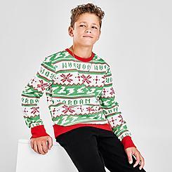 Kids' Jordan Jumpman Christmas Crew Sweater