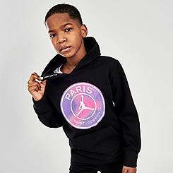 Kids' Jordan Paris Saint-Germain Fleece Pullover Hoodie