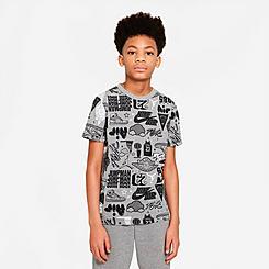 Boys' Big Kids' Nike Air Elements Allover Print T-Shirt