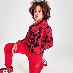 Boys' Jordan Essentials Allover Print Hoodie