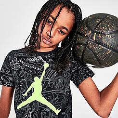 Big Kids' Jordan Jumpman Allover Legacy Print Graphic T-Shirt