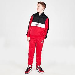 Boys' Jordan Colorblock Tricot Track Half-Zip Top and Joggers Set