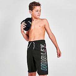 Boys' Big Kids' Hurley Vertical Logo Swim Shorts