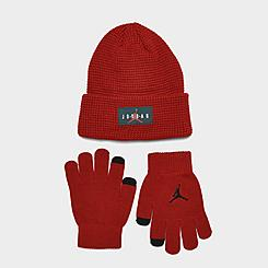 Kids' Air Jordan Jumpman Air Beanie Hat and Gloves Set